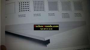 Bandejas perforadas para techos