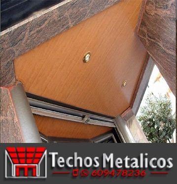 Techos de aluminio en Cantoria