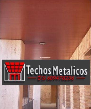 Techos de aluminio en Montealegre del Castillo
