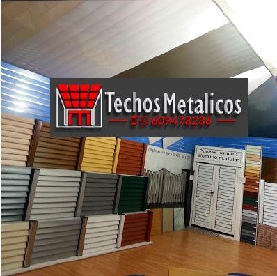 Techos de aluminio en Santa Cilia