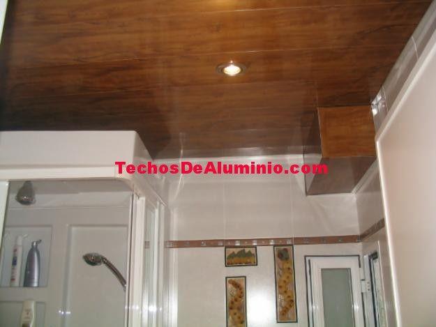 Falsos techos de aluminio en Pinto