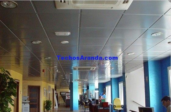 Falsos techos de aluminio en Requena