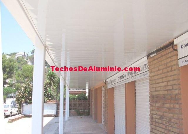 Falsos techos de aluminio en Sagunto