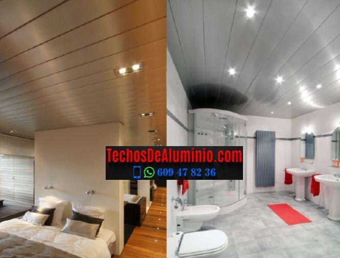 Techos de aluminio en Alcollarín