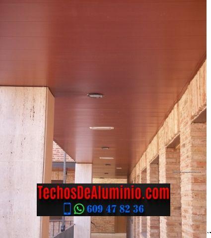 Techos de aluminio en Cabañas del Castillo