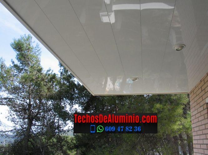 Techos de aluminio en Cerezo