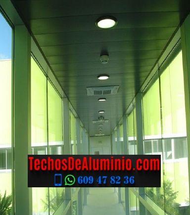 Techos de aluminio en Rebollar