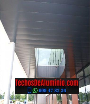 Techos de aluminio en Robledillo de Gata