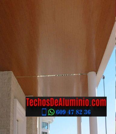 Techos de aluminio en Valdehúncar